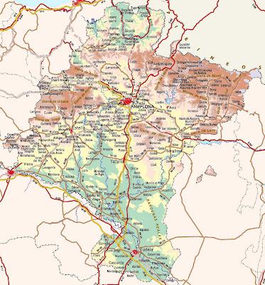 Navarre Carte de la ville