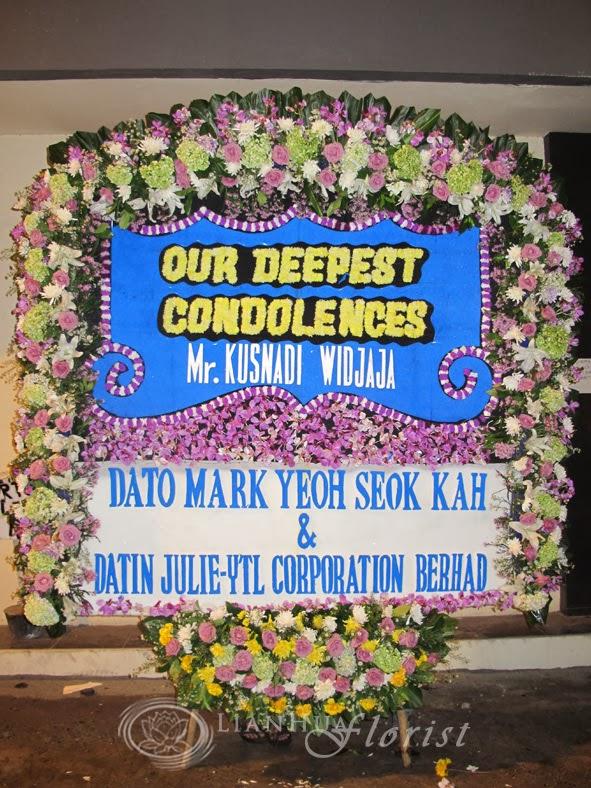 karangan bunga papan duka cita, toko bunga, bunga untuk orang meninggal