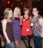 Kate Hart, Sarah Enni, Kirsten Hubbard, and Kelly Jensen at a blogger meetup in New Orleans