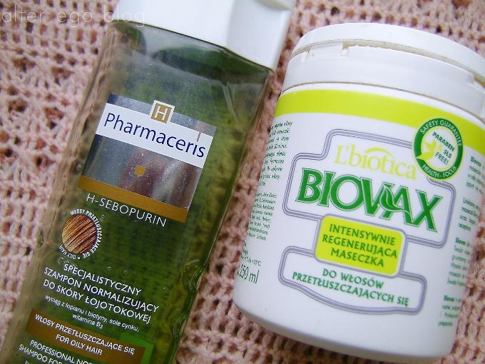 Walka z przetłuszczaniem się włosów | Kuracja: Szampon Pharmaceris, maska Biovax