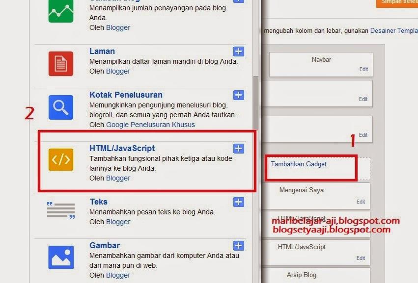 Cara Memasang Widget Jumlah Pengunjung Blog