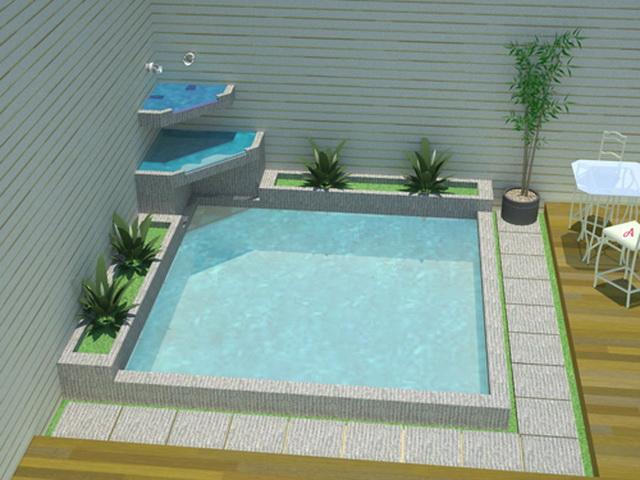 kolam ikan air mancur love green