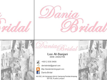 BUSINESS CARD BY DANIA BRIDAL