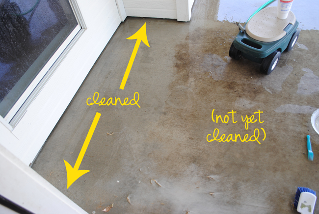 i should be mopping the floor DIY Miracle Concrete Patio Cleaner