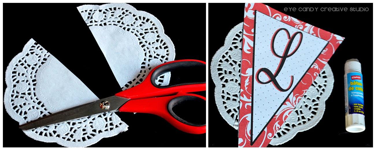preparing valentines banner, love banner