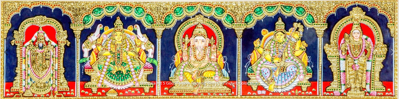 Shop Online Mangala Tanjore Paintings - Traditional Tanjore Paintings