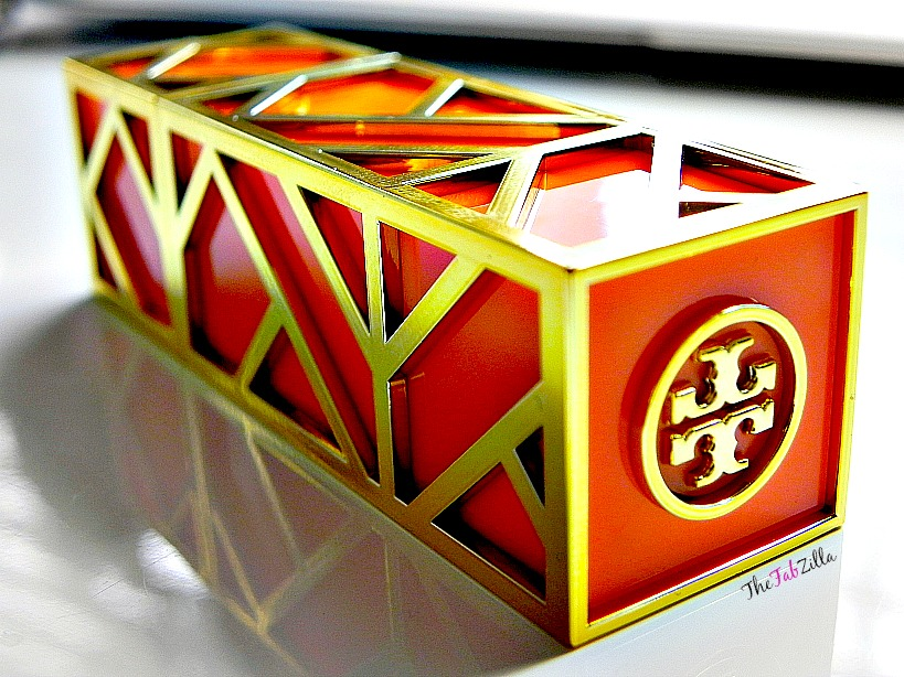 tory burch lip color pas du tout 01 review swatch, tory burch beauty review