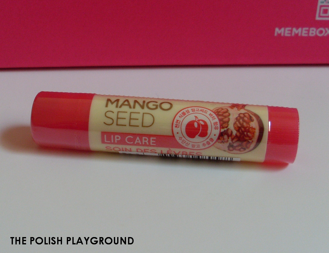 Memebox Superbox #40 Pomegranate Cosmetics Unboxing - The Face Shop Lovely Mix Mango Seed Lip Care 01 Pomegranate