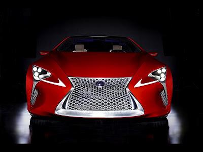 Lexus 2012 Concept Hybrid Car Front View HD Wallpaper