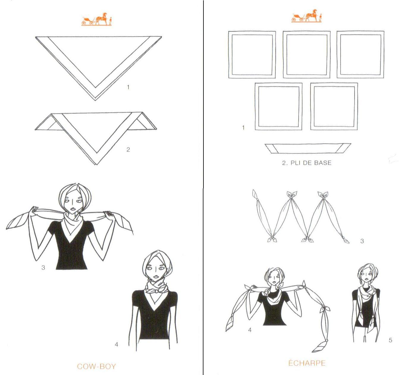 Scarf Tying Hermes Style Musing Mends The Soul Diagram Posted 22nd February 2012 By Lauren