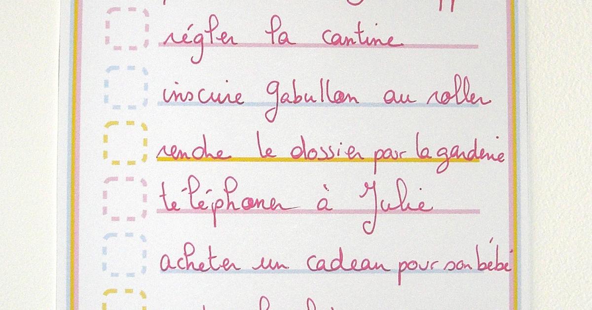 Top Gabulle in Wonderland: To do liste pour la rentrée à imprimer FR85