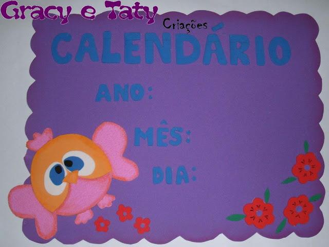 painel calendário escolar corujas