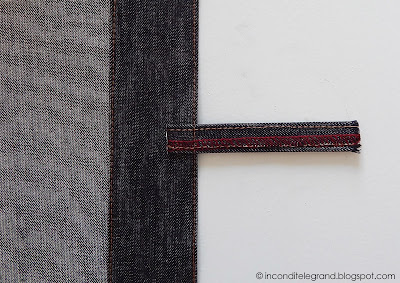 Attaching belt loops - top stitched waistband