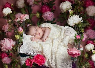 Baby_sleep_with_pink_white_roses_flower_background_HD_images.jpg