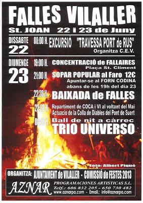 Falles St. Joan Vilaller 2013. (Alta Ribagorça)