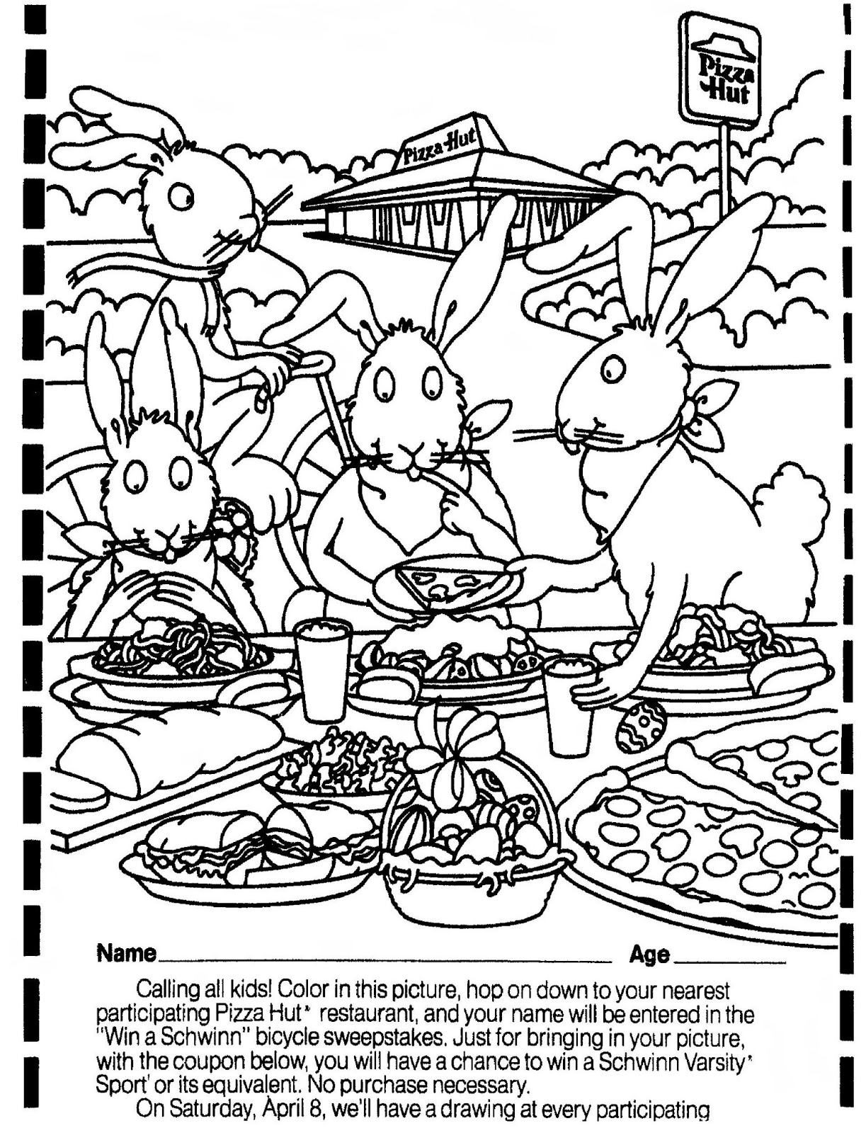 Pizza Hut Free Coloring Pages Pizza Hut Coloring Pages