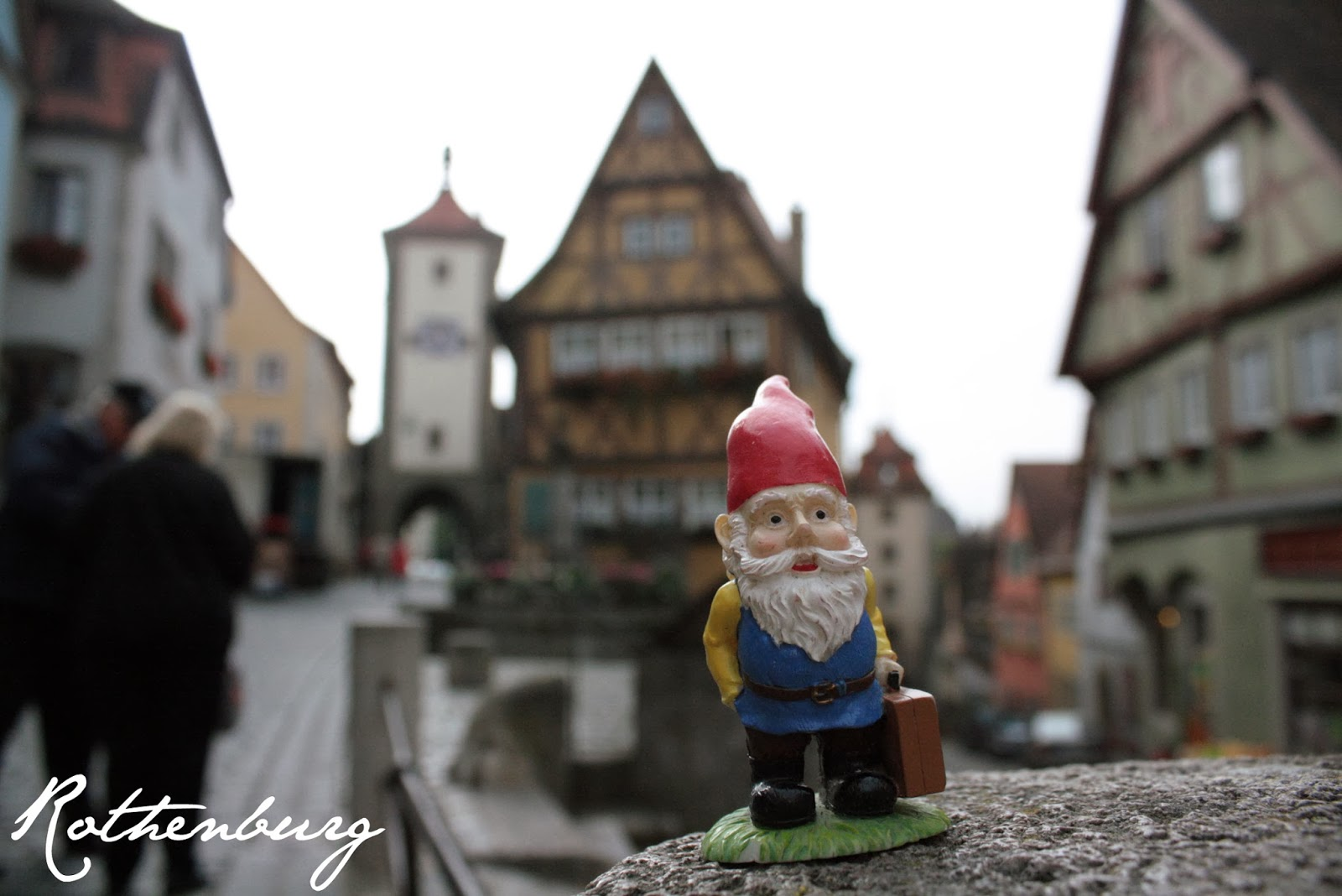 Cedric the Gnome in Rothenburg, Germany - The Tipsy Terrier blog