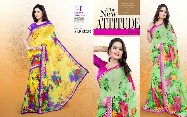 New Arrival Georgette Printed Saree – Wholesaler