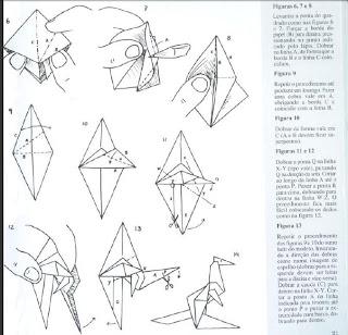 Origami - Dobraduras de papel machê. Canguru.