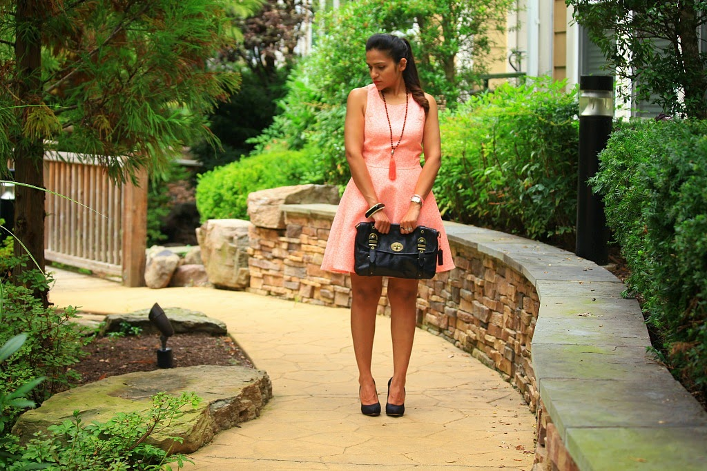 Dress & Jacket - Lulu's, Shoes - Dolce Vita, Bright Colors For Fall, Tanvii.com