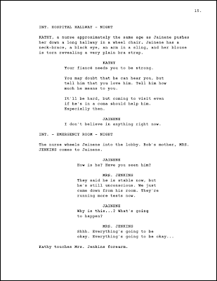PAGE 15 OF MY SCREENPLAY