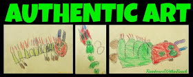 Authentic Children's Art vs. Craftivities at RainbowsWithinReach