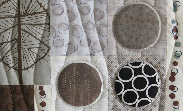 """Applique circles quilt - """"Automne - Hiver"""""""