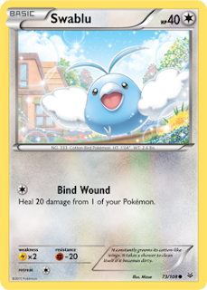 Swablu Roaring Skies Pokemon Card