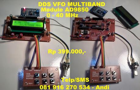 DDS VFO MULTIBAND, MODUL  AD9850 : 0 - 40 MHz, Stok barang tersissa tinggal beberapa unit lagi