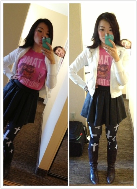 necessary clothing leggings and skirt, Aritzia Tshirt, forever21 hoodie