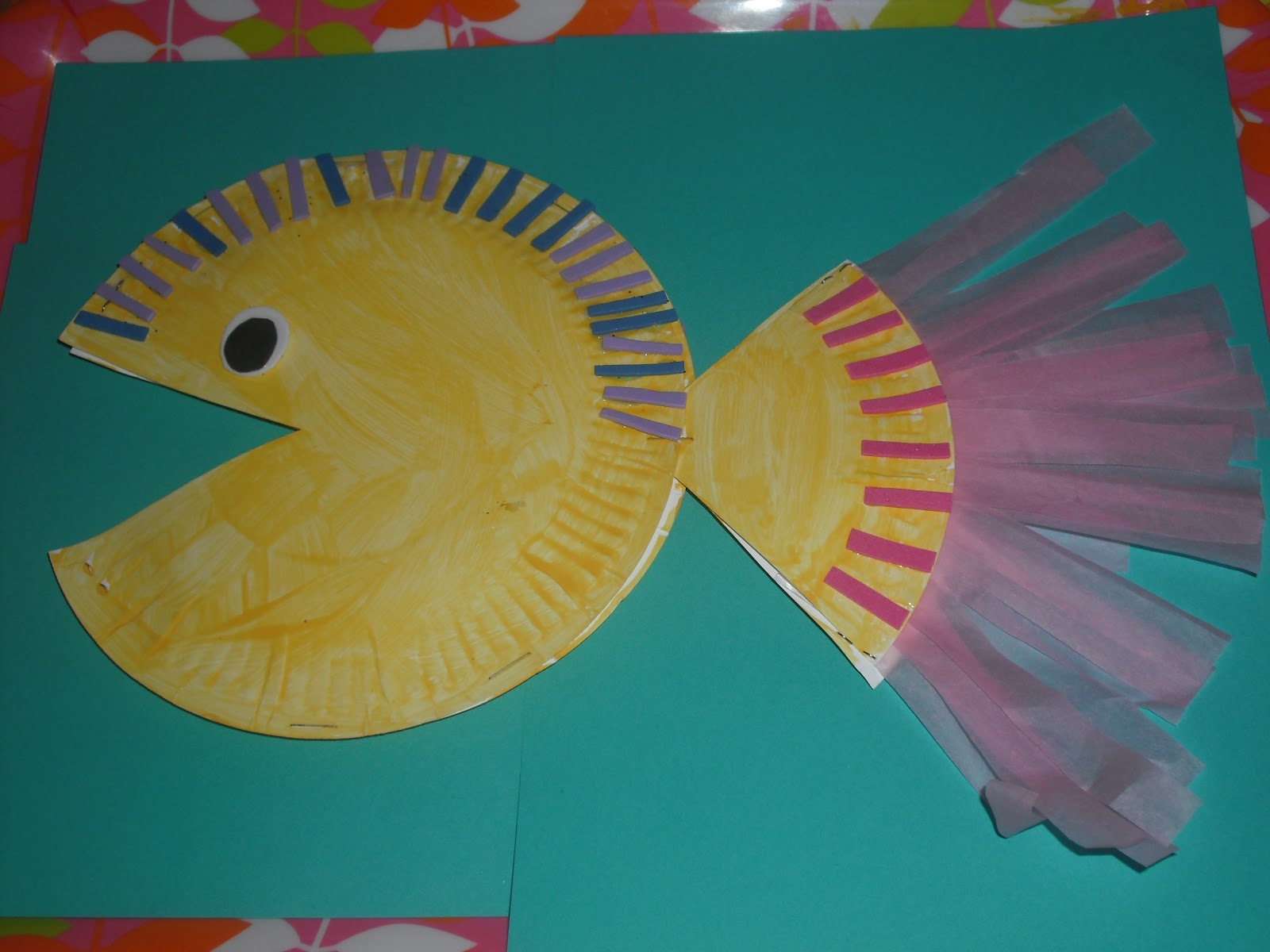 Jamesmay arts and crafts blog learning crafts first shape to start with i think is always the cirle easy to draw and easy to make pictures with the above fish was made from 2 paper plates jeuxipadfo Images