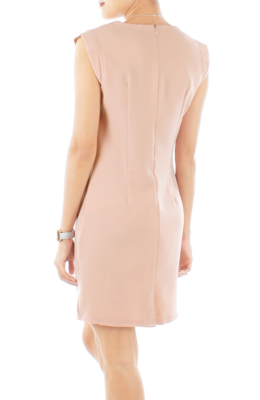 Powder Pink Tailored Verve Pleat Work Dress