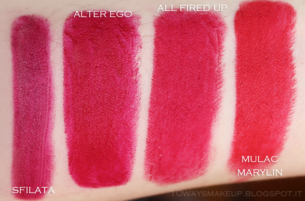 Nabla Diva Crime Alter Ego swatches