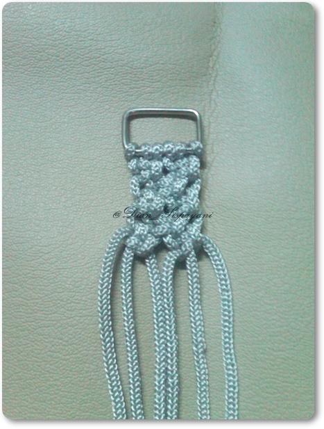 About Macrame: cara menyambung tali di ring #tehnik macrame