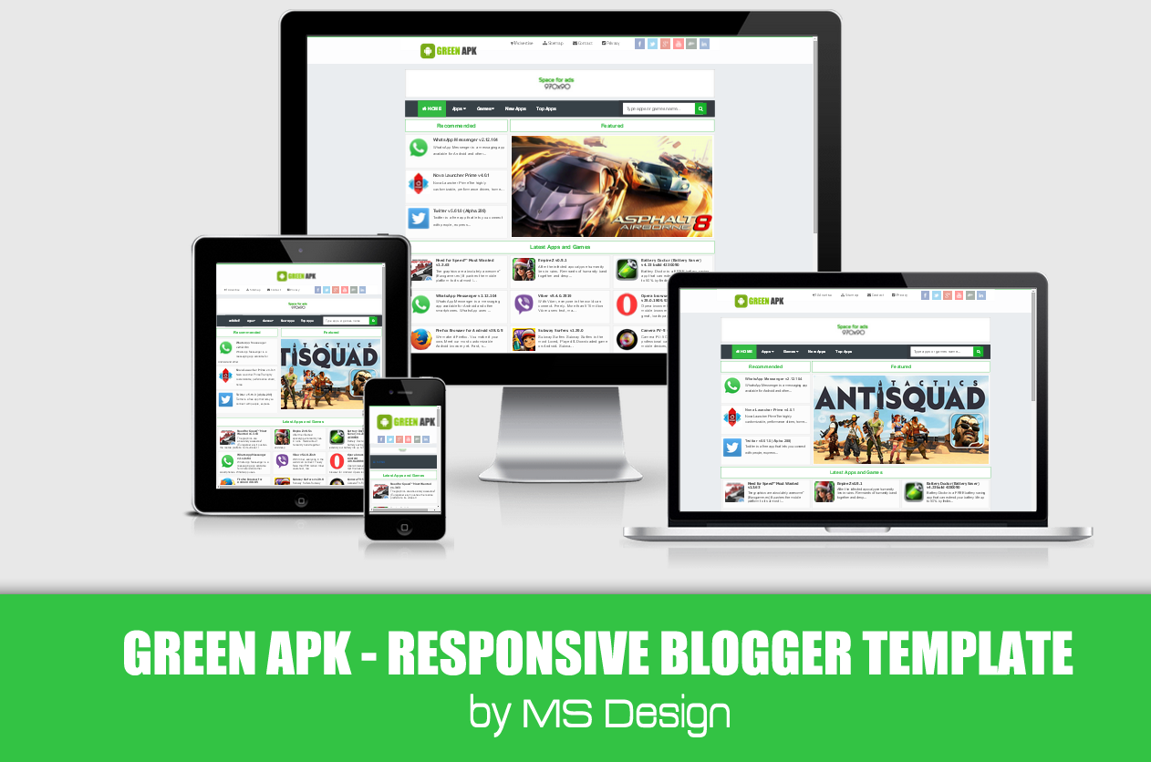 Green APK Pro Responsive Blogger Template Green APK | Responsive ...