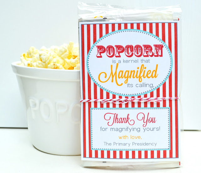 Craft sew create magnified popcorn primary teacher for Thank you crafts for teachers