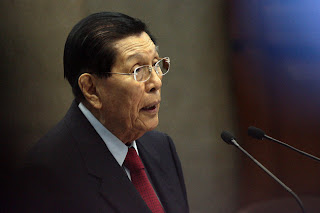 Juan Ponce Enrile Resign as Senate President