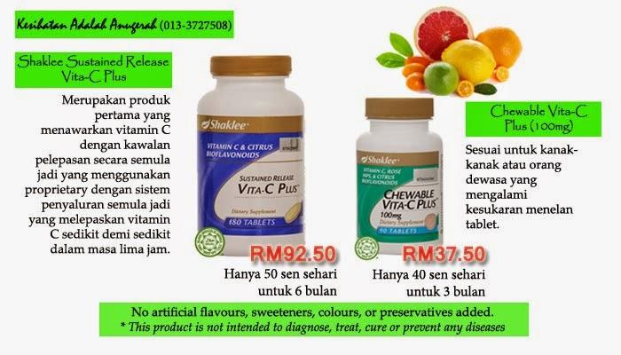 Supplement Vitamin C terbaik untuk kesihatan