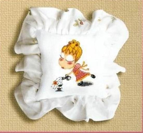 Схема вышивки девушка цветок