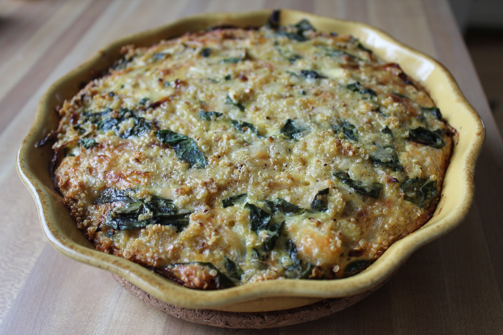 Red Pepper Flakes: Recipe Rursday: Quinoa and Kale Quiche