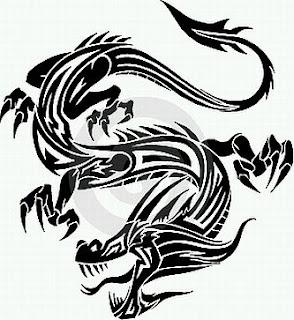 Tatoos y Tatuajes de Dragones en Blanco y Negro, parte 4