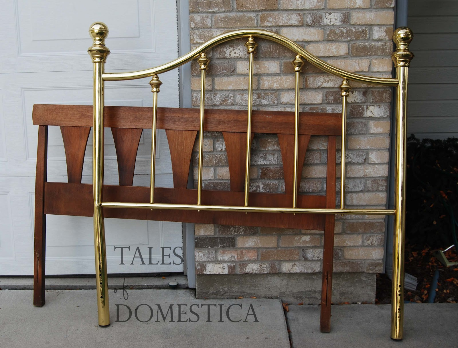 last fall i found this headboard for free i had seen a brass headboard. Black Bedroom Furniture Sets. Home Design Ideas