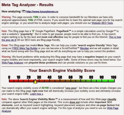 Meta Tag Analyzer : Custom domain setting up google analytics webmaster