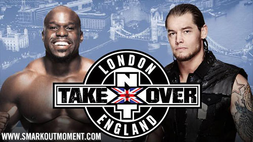 WWE NXT TakeOver London Event Crews vs Corbin Match