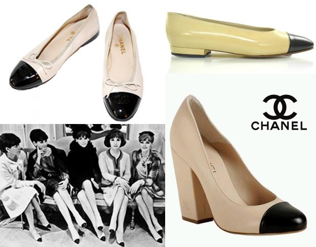 Cap toe_a mania do sapato com ponteira_sapato chanel_sapato clássico