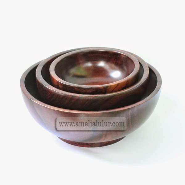 mangkok lulur wooden bowl set