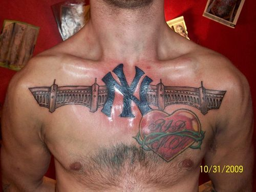 tattoo design new york yankees tattoos. Black Bedroom Furniture Sets. Home Design Ideas
