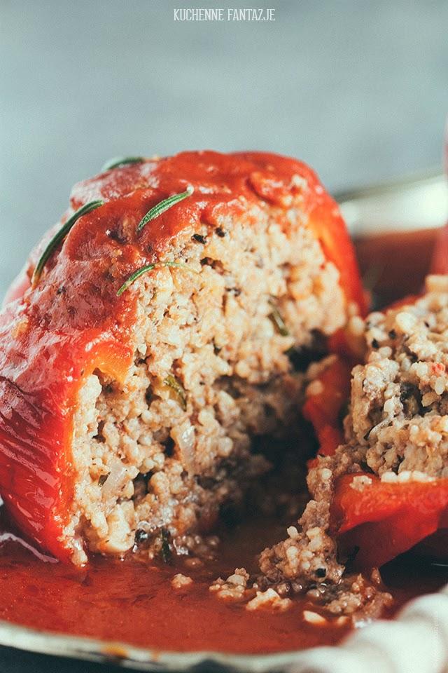 papryka, faszerowana, przepis, kasza jaglana, wołowina, dietetyczne przepisy