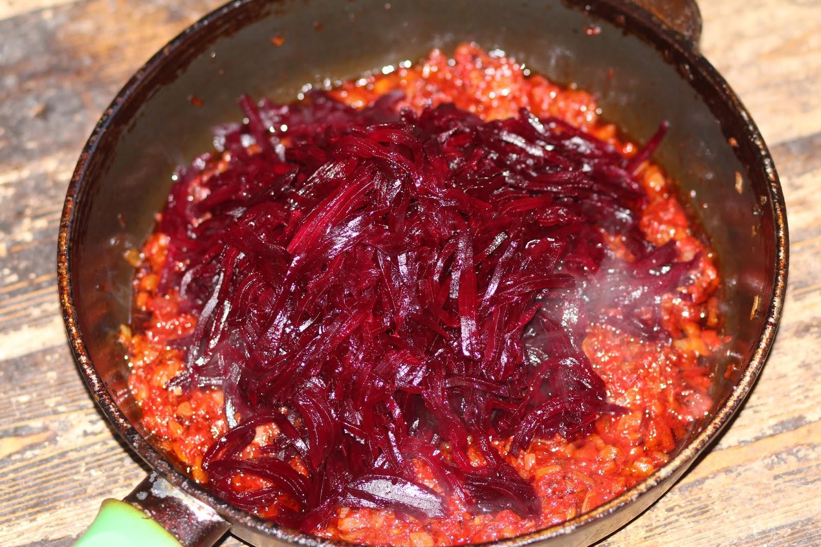 Борщ с томатной пастой рецепт с