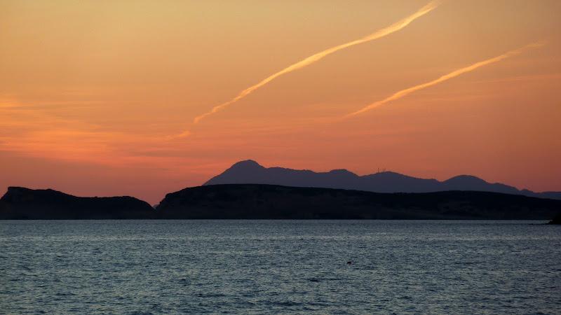 Sonnenuntergang über dem Ionischen Meer (Korfu, Griechenland)